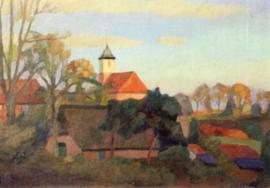 Blik op de kerk van Worpswede, Udo Peters