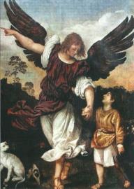 Aartsengel Rafael met de kleine Tobias, Tizian