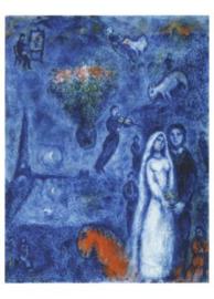 De schilder en zijn bruid, Marc Chagall