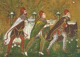 De heilige Drie Koningen, Mozaïek uit Ravenna