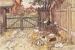 Het hek, Carl Larsson