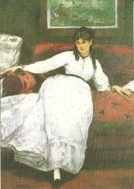 Portret van Berthe Morisot, Edouard Manet