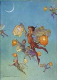 Vliegen met lampionbloemen, Margaret Tarrant