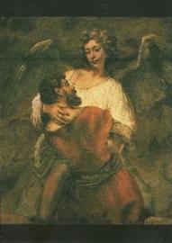 Jacob's gevecht met de engel, Rembrandt