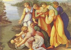 Dochter van farao vindt Mozes, Rafael