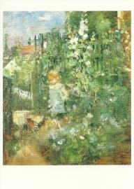 Kind tussen stokrozen, Berthe Morisot
