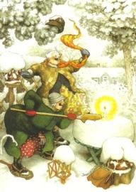 Vrouwen met kaars in de sneeuw, Inge Löök
