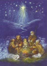 Schaapherders in de koude winternacht, Marjan van Zeyl