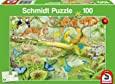 Puzzel 100 stukjes,  Dieren in de jungle, leeftijd 6+