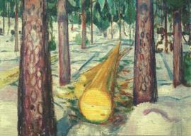 De gele boomstam, Edvard Munch