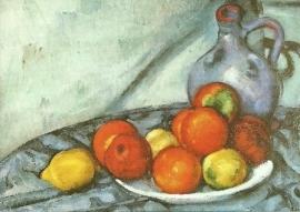 Stilleven met appels, citroenen en kruik, Paul Cézanne