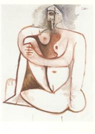 Gehurkte vrouw, Pablo Picasso