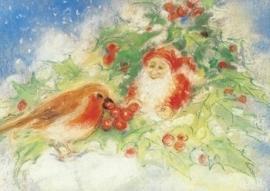 Winterroodborstje met dwerg, Marjan van Zeyl