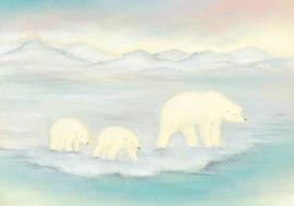 Moeder ijsbeer met jongen, Baukje Exler