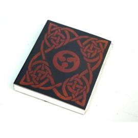 Only natural Leren zakboekje keltisch