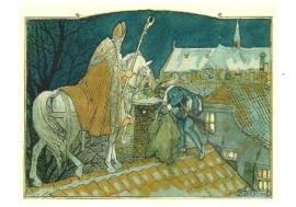 Nicolaas en Piet op het dak, Cornelis Jetses