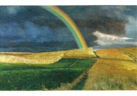 Wegtrekkend onweer over Weyersberg, Hans am Ende