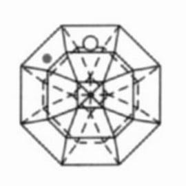 Kristal achthoek 40mm