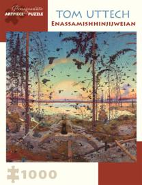 Tom Uttech: Enassamishhinjijweian 1,000-piece Jigsaw Puzzle