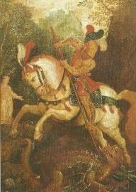 De heilige Georgius, Oberrheinischer Meister