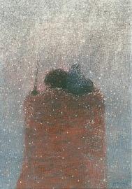 Drager in de sneeuw, Juke Hudig