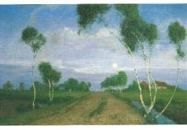 Avond in het veenmoeras, F. Overbeck