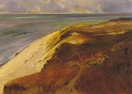 Uitzicht vanaf de hoge oever op de Oostzee met schapen, Friedrich Wachenhusen