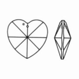 Kristal hart 40mm