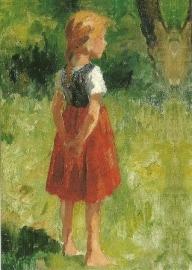 Meisje in rode rok, Thomas Herbst