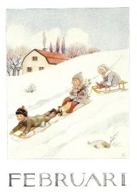 Februari maandkaart, Elsa Beskow