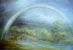 Regenboog over de brug, David Newbatt