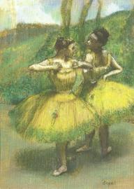 Twee danseressen in geel, Edgar Degas