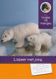 IJsbeer met jong (compleet pakket)
