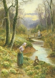 Primula plukkende meisjes, Ernest Walbourn