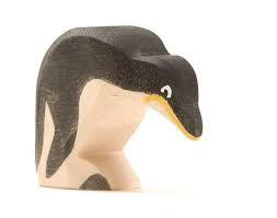 Pinguin met kop omlaag