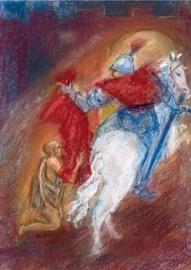Martinus deelt mantel met bedelaar, Marjan van Zeyl