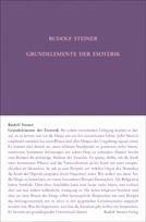Grundelemente der Esoterik GA 93a / Rudolf Steiner