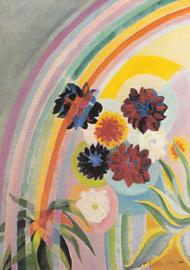 Bloemen met regenboog, Robert Delaunay