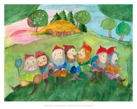 Zeven dwergen, Eva-Maria Ott-Heidmann Din A4