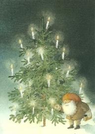 Tomte doet de kaarsen aan, C. Kruusval