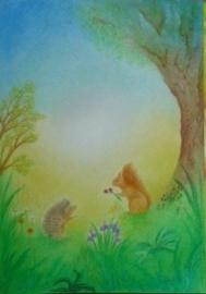 Egel met eekhoorn 3, Sonja Schoppers A4