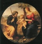 Heilige familie onder de palmboom, Rafael