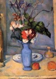 De blauwe vaas, Paul Cezanne