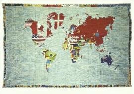 Wereld map, A. Boetti