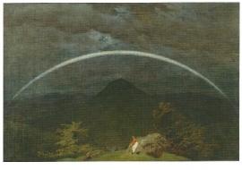 Berglandschap met regenboog, Caspar David Friedrich