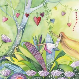 Meisje op boomschommel,  Kristiana Heinemann
