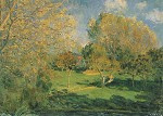 Tuin in Hoschede, Alfred Sisley