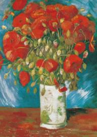 Vaas met rode papavers, Vincent van Gogh