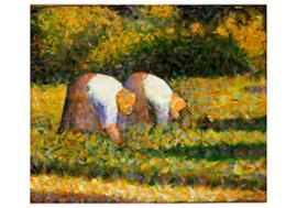 Boerinnen aan het werk, Georges Seurat