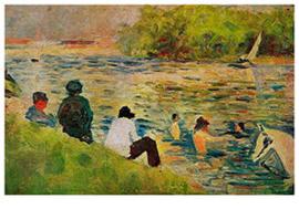 Oever van de Seine, Georges Seurat
